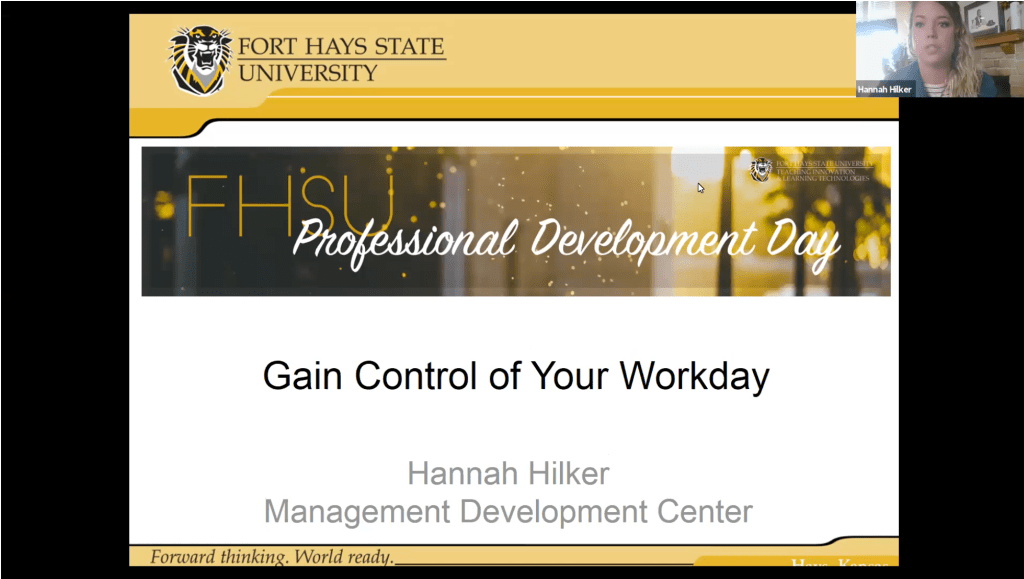 Gain Control of Your Workday