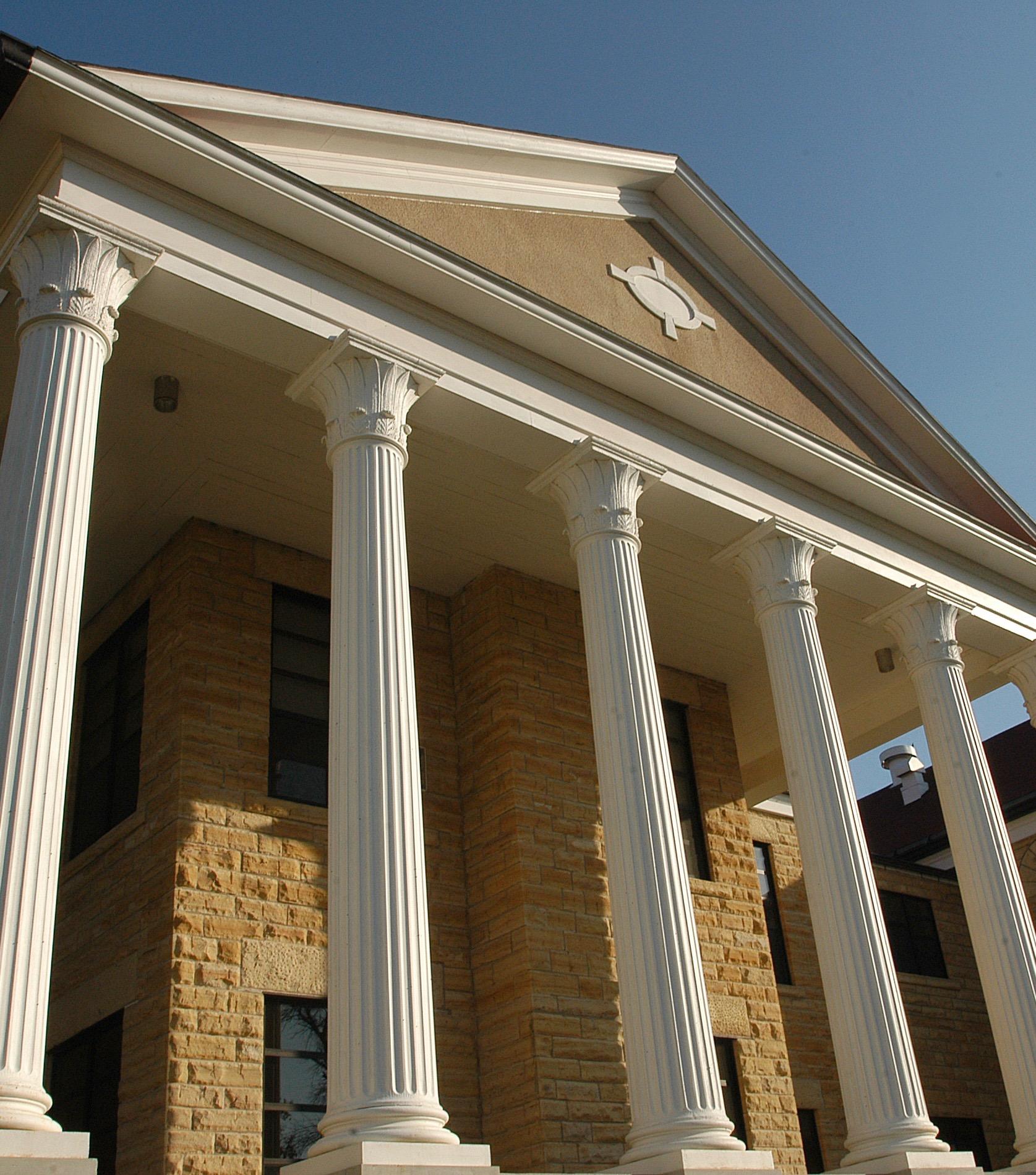 picken Hall pillars