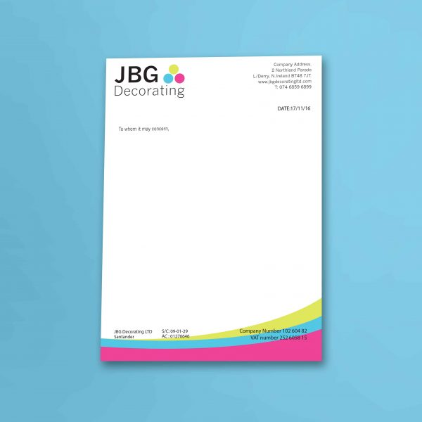 Letterheads  Web Design Graphic Design Logo Design Derry Londonderry