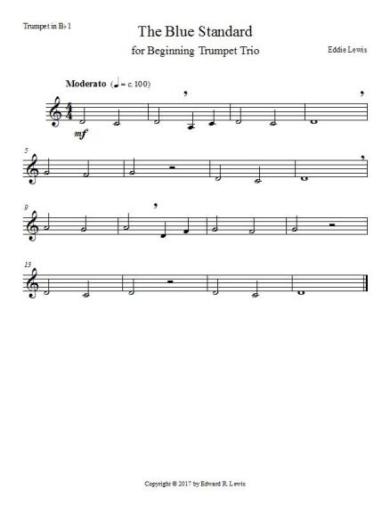 Blue Standard Trumpet 1 Page 1