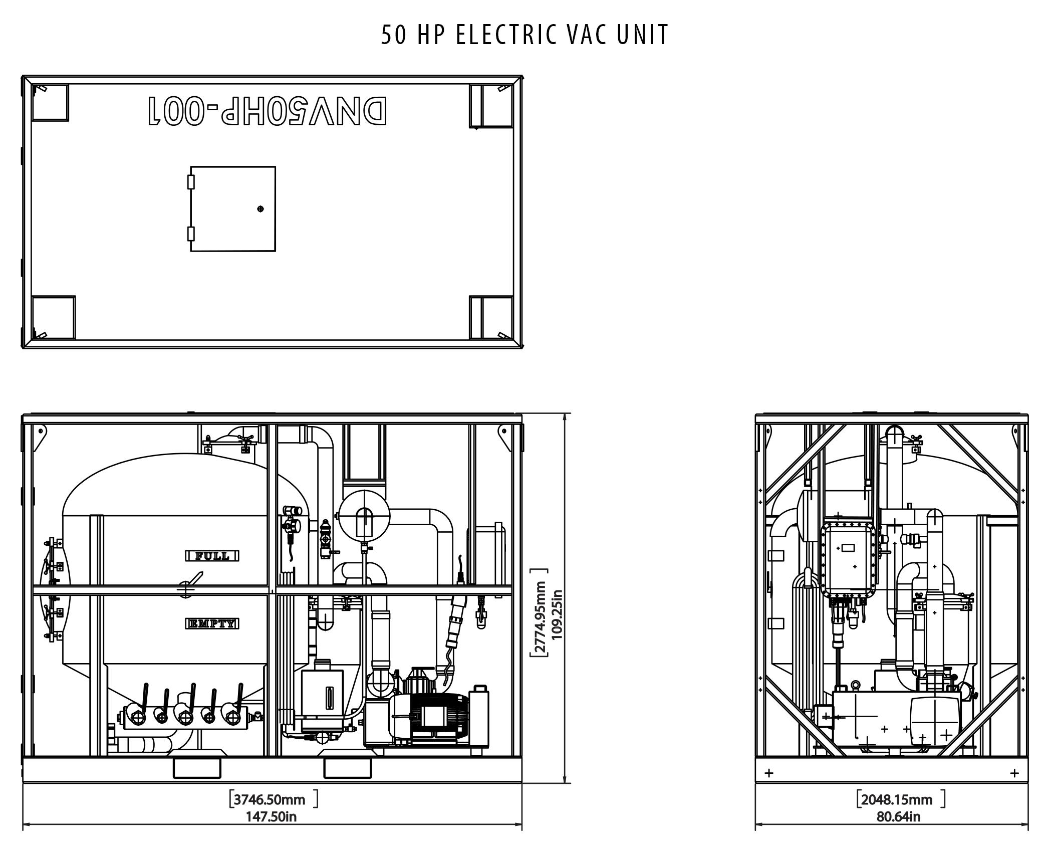 50 Hp Electric Vac Unit Tiger Offshore Rentals