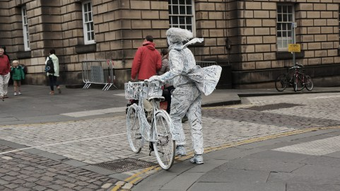 White Bicycle Man