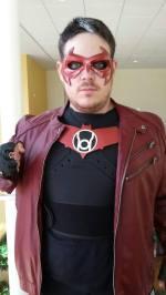 Chris Ellinger with Tiger Stone FX Nightwing mask as Red Lantern Jason Todd