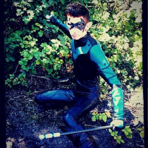 Craig Brooker‎ with Tiger Stone FX New 52 Nightwing mask