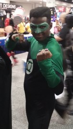Eric Petit-Frere as Green Lantern w Tiger Stone FX mask