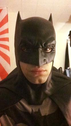 Nicholas Agosta with Tiger Stone FX Batman V Superman Dawn Of Justice cowl