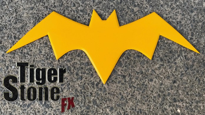 Comic inspired Batgirl emblem - by Tiger Stone FX - Killing Joke Batman Animated Series