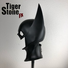 Batgirl cowl (side) (long eared) made by Tiger Stone FX
