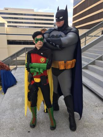 Code Cosplay & Apotheosize with Tiger Stone FX Batman The Animated Series cowl and Damian Wayne mask