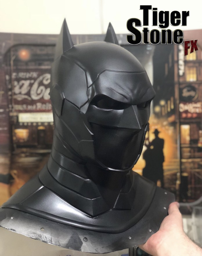 armored Batman cowl mask - by Tiger Stone FX- work in progress
