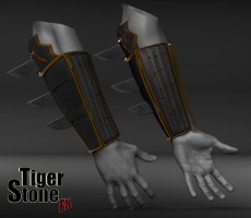Batman Ninja gauntlets - finished sculpt (on arms (2) ) - made by Tiger Stone FX