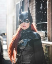 Batman Arkham Knight Batgirl cowl for your cosplay by Tiger Stone FX worn by WhoaNerdAlert (photo by Kryptic Frames) - (customer photos)