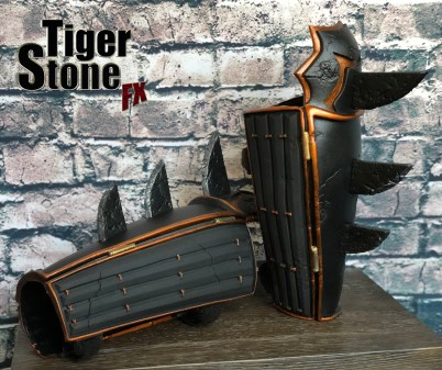 Batman Ninja gauntlets for your costume (side) - made by Tiger Stone FX
