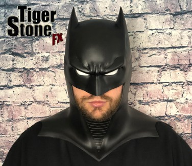 GD Batman cowl (front with white eyes) -- original design (and made) by Tiger Stone FX