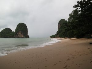 Phra Nang beach in the rain