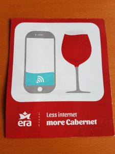 less internet more cabernet sticker