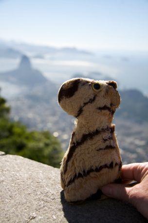 Corcavado looking over Sugar Loaf Mountain, Rio, Brasil