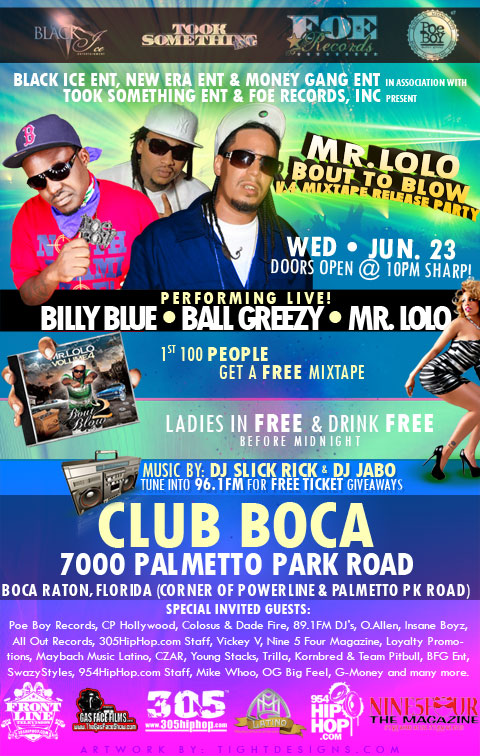 Mr Lolo Mixtape Release Party Flyer Design Tight
