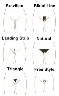 Different styles of pussy trimming
