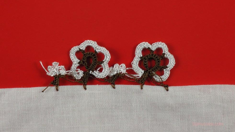 pamuk çiçeği motifli yazma kenarı
