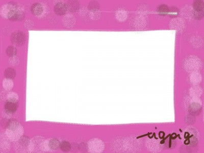 フリー素材:フレーム素材(640pix)<br>  ガーリーでシンプルなピンクのフレーム素材。