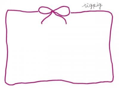 フリー素材:フレーム素材[640pix]<br>ガーリーでシンプルなピンクのフレーム素材。