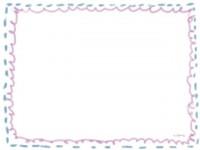 フリー素材:フレーム;ガーリーで大人可愛い落書きのイラスト素材