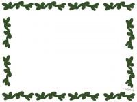 フリー素材:フレーム;大人可愛い北欧風の葉っぱの夏のイラスト素材