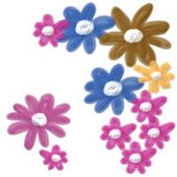 フリー素材:twitterアイコン・メニュー;花のイラスト。webデザイン素材。