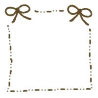 フリー素材:ガーリーな秋色のリボンのtwitter、mixi用アイコン素材