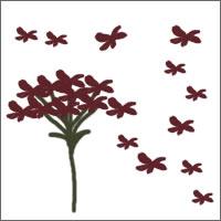 フリー素材:twitterアイコン・メニュー;秋色の花のイラストのwebデザイン素材。
