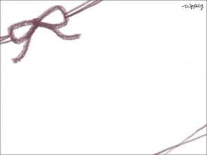 フリー素材:ガーリーな赤紫のリボンのイラストのフレーム素材(640×480pix)