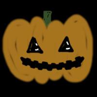 フリー素材:twitterアイコン・メニュー;ハロウィンのかぼちゃのおばけのイラストのwebデザイン素材