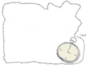フリー素材:640×480pix;レトロな懐中時計のイラスト素材