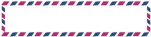 フリー素材:ブログヘッダー;ガーリーなエアメール封筒のwebデザイン素材。