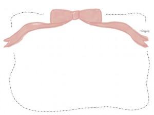 フリー素材:フレーム:ガーリーなリボンのイラストのwebデザイン素材。