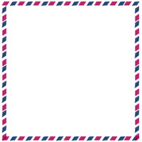 フリー素材:twitterアイコン・メニュー;エアメール柄(模様)の枠。webデザイン素材。