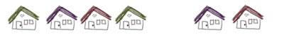 フリー素材:飾り罫・ライン;ガーリーな手描き風お家のwebデザイン素材