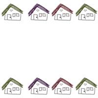 フリー素材:バナー・アイコン:200pixサイズ;ガーリーなお家のwebデザイン素材