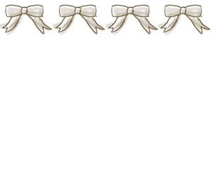 フリー素材:バナー:300×250pix;ガーリーなリボンのwebデザイン素材