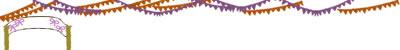 webデザイン・フリー素材:飾り罫・罫線(ライン);秋のスポーツと運動会のイラスト