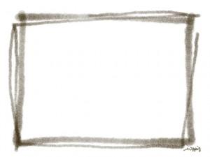 フリー素材:フレーム:640×480pix;シンプルな四角のwebデザイン素材