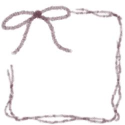 フリー素材:バナー・アイコン:250pix;紫のリボンとガーリーなラインの飾り枠のwebデザイン素材