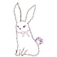 フリー素材:アイコン:200×200pix;紫の大人かわいいうさぎのイラスト素材