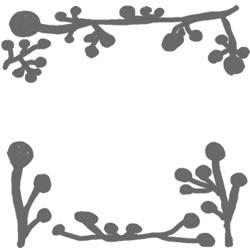 フリー素材:バナー・アイコン:250pix;ガーリーな北欧風植物のイラストのwebデザイン素材
