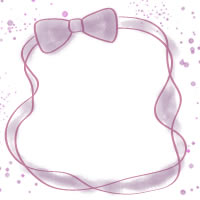 フリー素材:バナー・アイコン:200pix;大人かわいいピンクのリボンの飾り枠のwebデザイン素材
