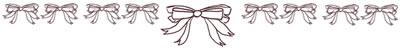 フリー素材:飾り罫・罫線:大人かわいい茶色のリボンのナチュラルなwebデザイン素材