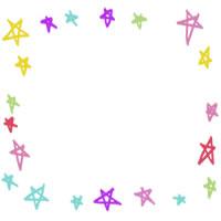 フリー素材:アイコン(twitter,mixi,ブログ);ポップで大人かわいい星の飾り枠のwebデザイン素材