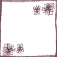 フリー素材:アイコン(twitter,mixi,ブログ);大人かわいい紫色の花とラインのwebデザイン素材