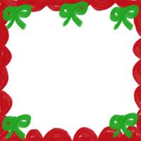 フリー素材:アイコン;大人かわいいリボンと飾り枠のクリスマスのwebデザイン素材